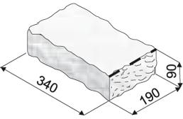Rovný záklopový prvok GRIND štiepaný