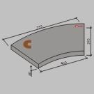 C Segment pre veľký kruh 200 (8 ks do kruhu)