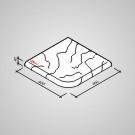 Bazénový lem - Tvár kameňa® Gabro rohový vonkajší