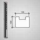 Plotový systém Brož Nová Trója® - stĺpik 210 koncový