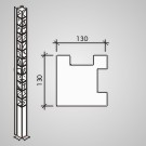 Plotový systém Brož Nová Trója® - stĺpik 210 rohový